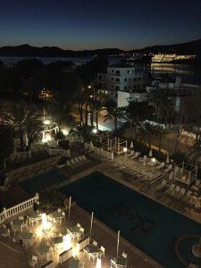 Ausblick vom Hotel bei Nacht