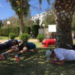 Fitness unter Palmen